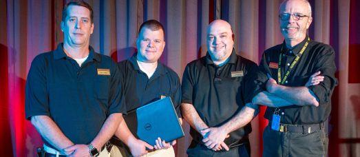 Members of National Creative Productions, the conference center's in-house IT/AV team